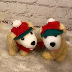 HALLMARK CHRISTMAS PUPPY DOG DUO